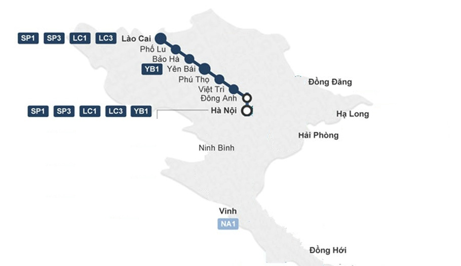 Sapa Train Map
